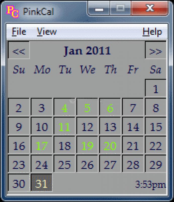 Pantallazo Pink Calendar and Day Planner