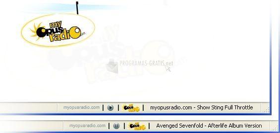 Pantallazo My Opus Radio