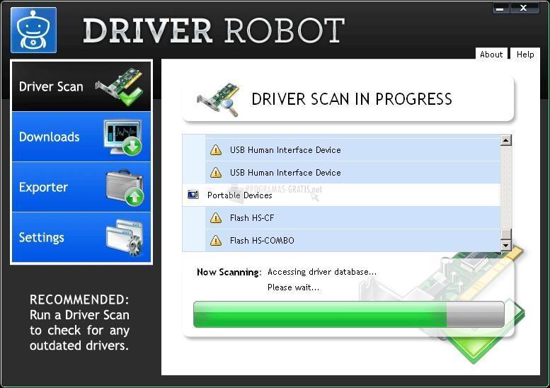 Pantallazo Driver Robot