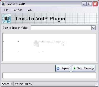 Pantallazo Text-To-VoIP Plugin