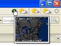 Pantallazo ForecastFox