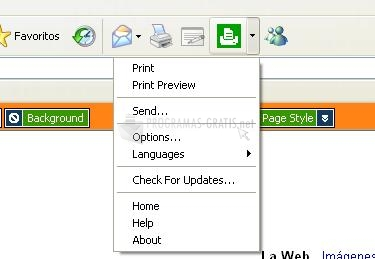 Pantallazo Printee for Internet Explorer
