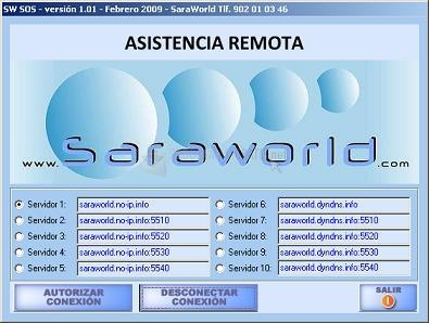 Pantallazo Sara world SOS