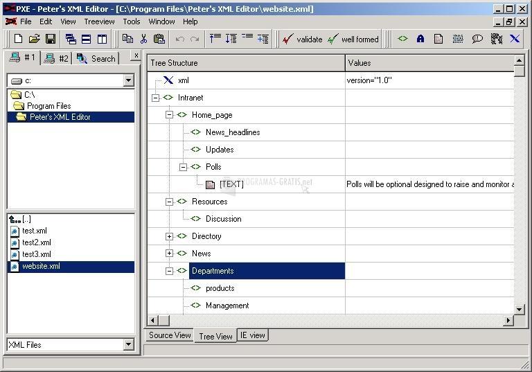 Peter´s XML Editor 2.0 - Descargar gratis