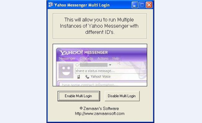 Pantallazo Yahoo Messenger Multi Login