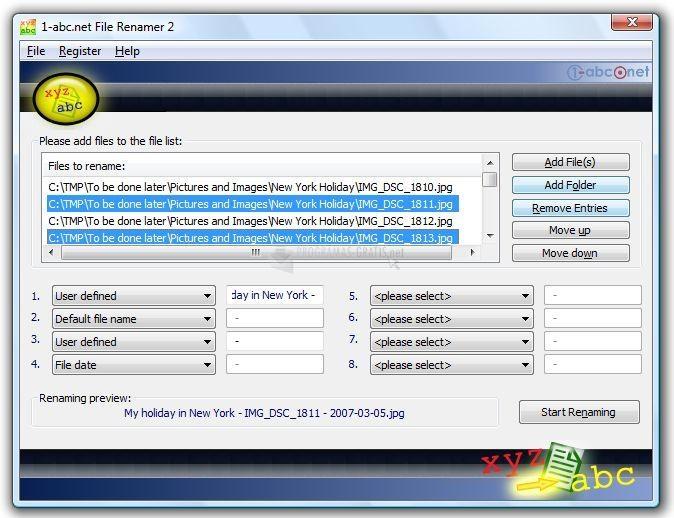 Pantallazo 1-abc.net File Renamer