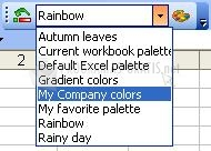 Pantallazo Color Manager for MS Excel