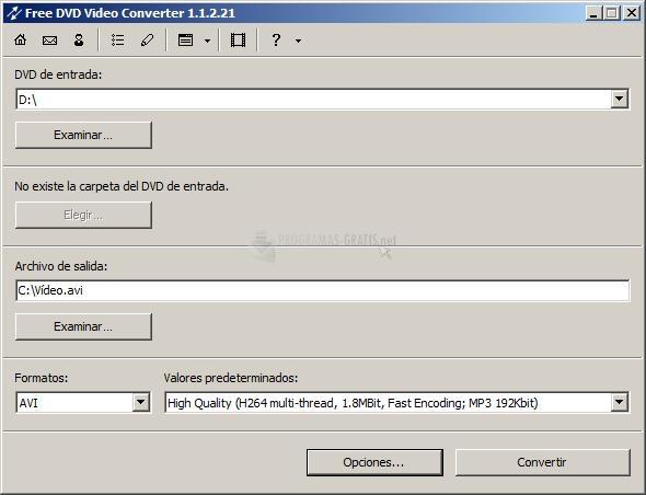Pantallazo Free DVD Video Converter