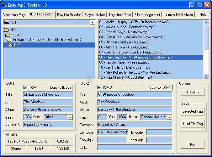 Pantallazo Easy MP3 Tools