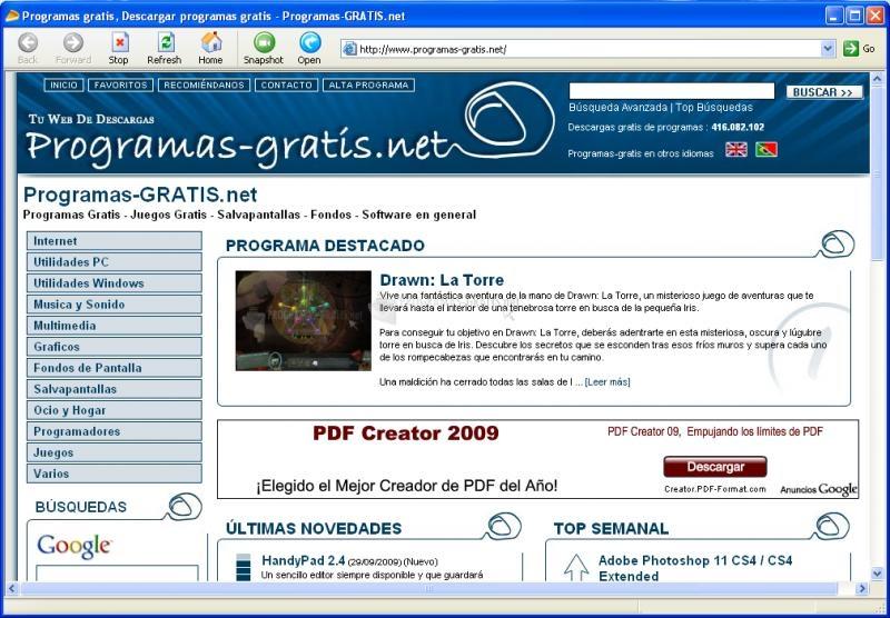 Pantallazo WebshotX