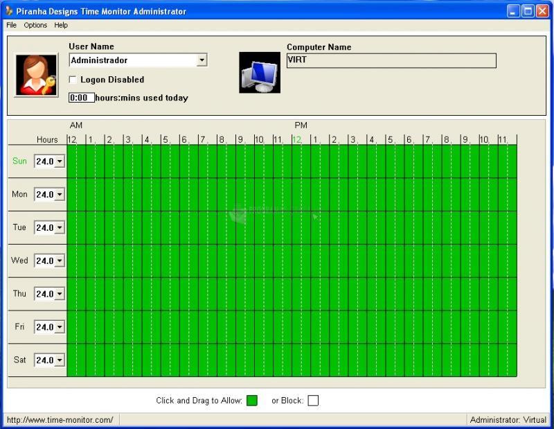 Pantallazo Time Monitor