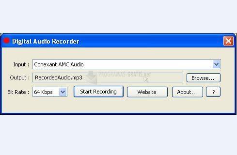 Pantallazo Digital Audio Recorder