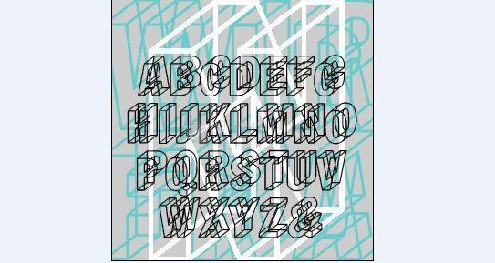 Pantallazo Wireframe Font