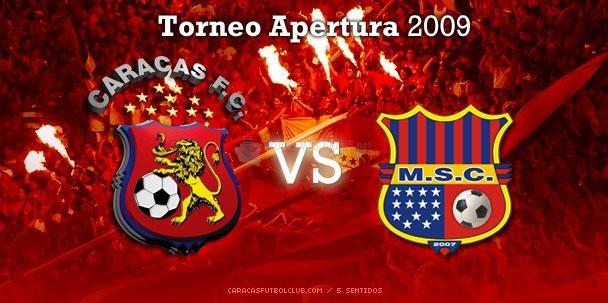 Pantallazo Caracas FC Vs Monagas Sport Club