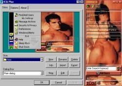 Pantallazo Sexy Man ICQ Skin