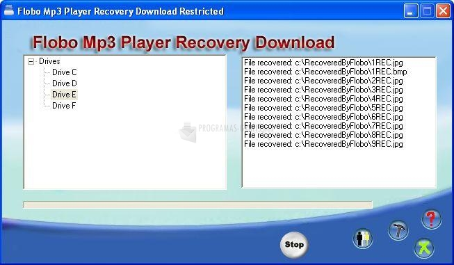 Pantallazo Flobo Mp3 Player Recovery