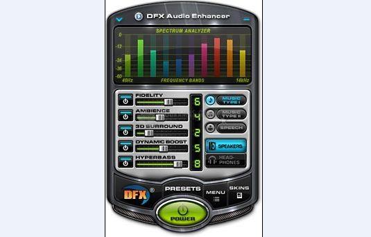 Pantallazo DFX for Musicmatch Jukebox