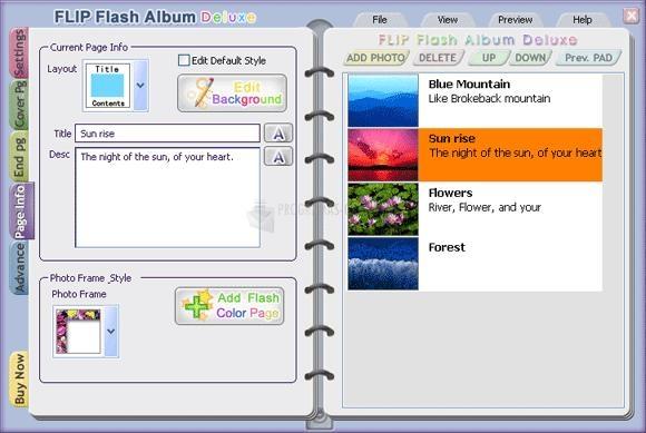 Pantallazo FLIP Flash Album Deluxe