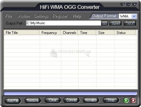 Pantallazo HiFi WMA OGG Converter