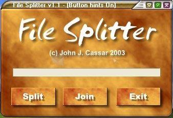 Pantallazo JJC File Splitter