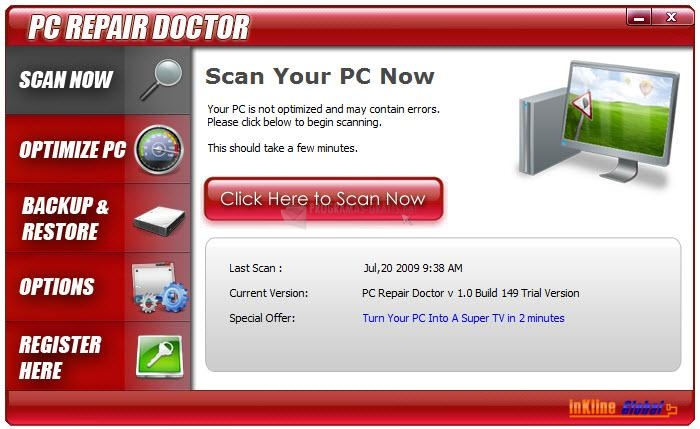 Pantallazo PC Repair Doctor