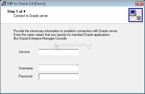 Pantallazo DBF-to-Oracle