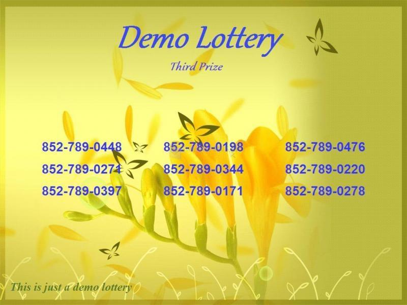 Pantallazo Number Lottery Director