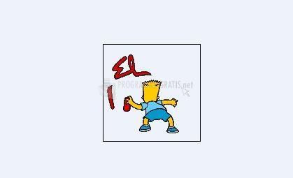 Pantallazo Bart con spray
