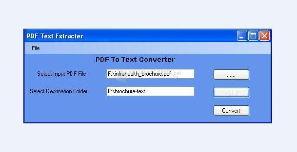 Pantallazo Free PDF To Text Converter