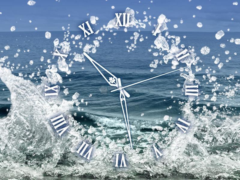 Pantallazo Water Element Clock screensaver