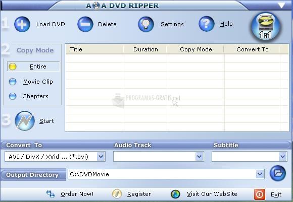 Pantallazo AoA DVD Ripper