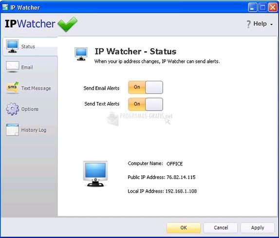 Pantallazo IP Watcher