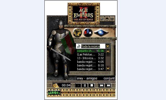 Pantallazo Age of Empires WMP Skin