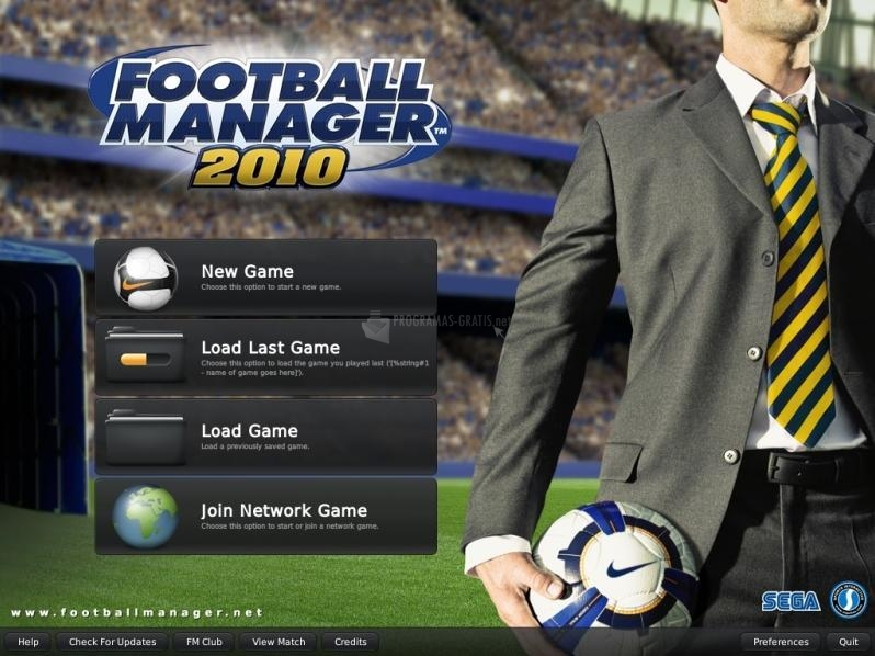 Pantallazo Football Manager 2010 Strawberry