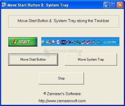 Pantallazo Move Start button