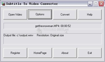 Pantallazo Subtitle To Video Converter