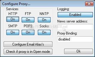 Pantallazo AnalogX Proxy