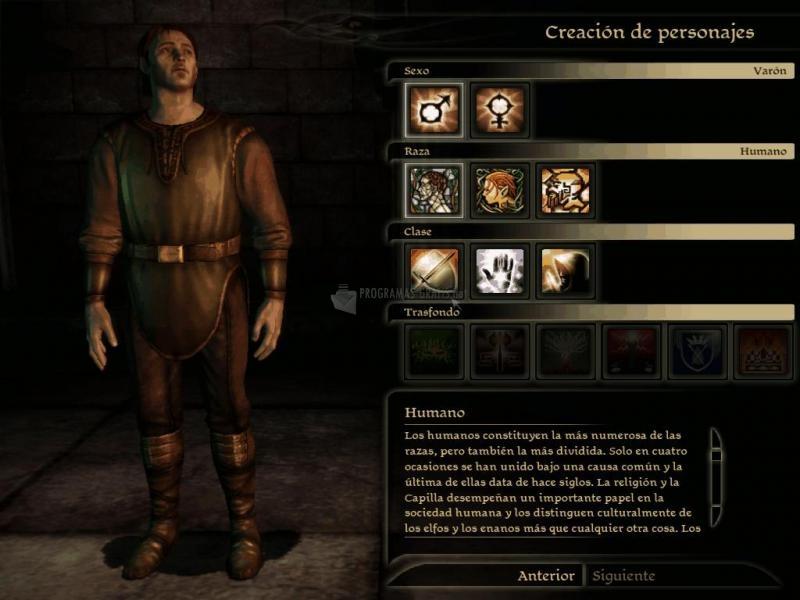 Pantallazo Dragon Age: Character Creator