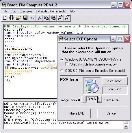 Pantallazo Batch File Compiler Professional
