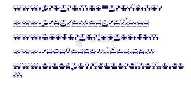 Pantallazo Xtrusion Font