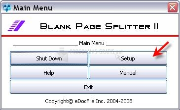 Pantallazo Blank Page Splitter