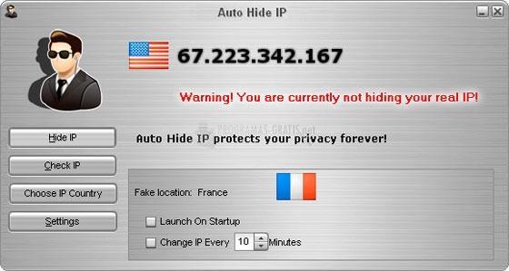 Pantallazo Auto Hide IP