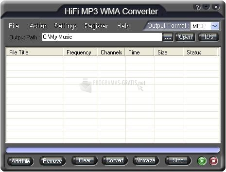 Pantallazo HiFi MP3 WMA Converter