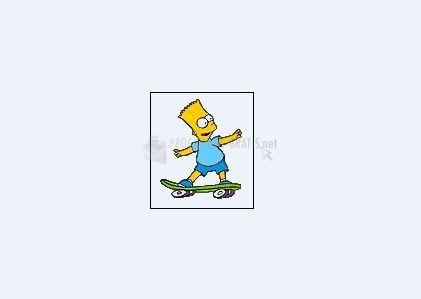 Pantallazo Bart animado en monopatín