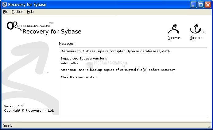 Pantallazo Recovery for Sybase