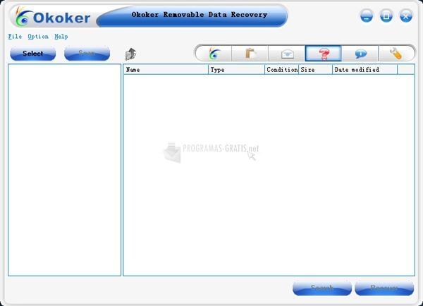 Pantallazo Okoker Removable Data Recovery