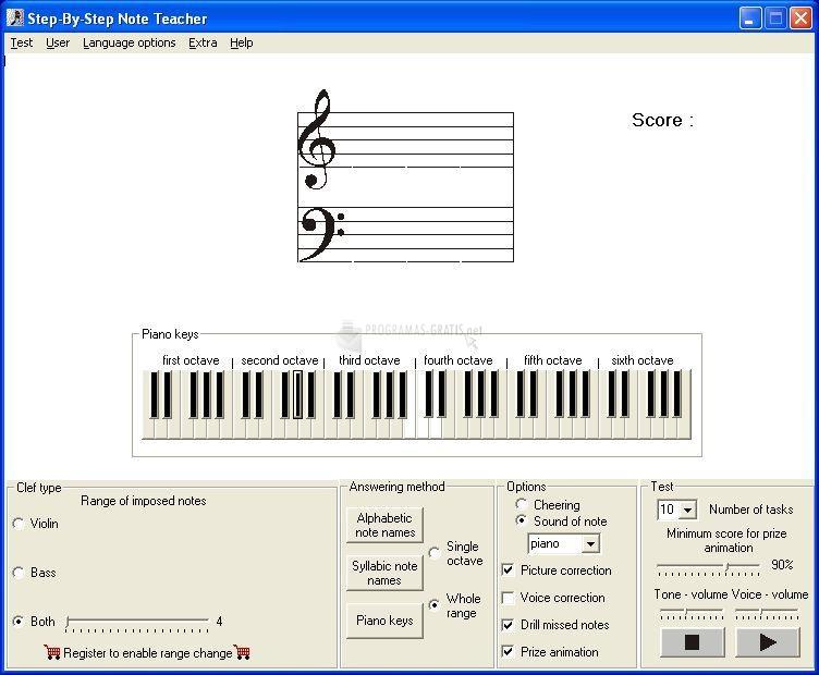 Pantallazo Step-By-Step Note Teacher