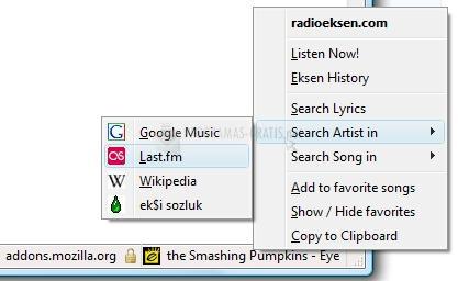 Pantallazo Radio Eksen