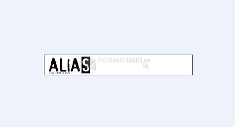 Pantallazo Alias Font