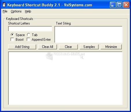 Pantallazo Keyboard Shortcut Buddy